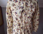 Vintage Long Sleeve Flora...