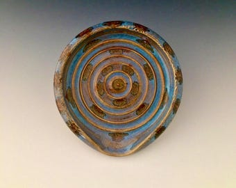 One of a Kind Handmade Spoon Rest by NorthWind Pottery