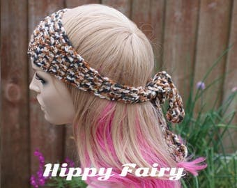 Crochet headband Leopard print shades - Ready to ship