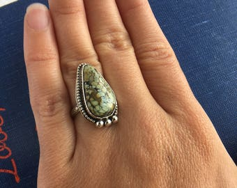 Ring, Cassiopeia Variscite Sterling Silver Ring Size 5.25