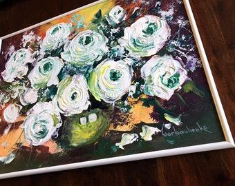Oil Painting Original painting Flower wall art Home decor wall art Kitchen décor Still life painting