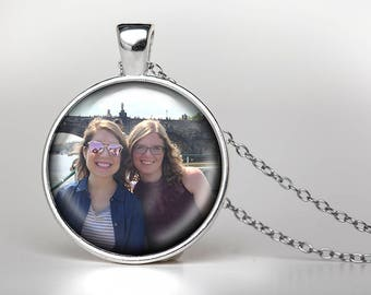 Custom Photo Pendant Necklace, Design Your Own Necklace, Personalized Jewelry, Custom Pendant, Custom Photo Jewelry, Custom Photo Gift