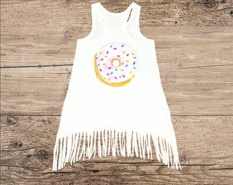 Donut Dress, Cute Dress with Fringe