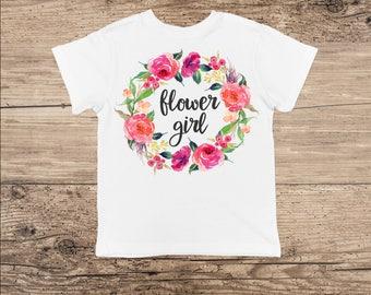 Flower Girl T Shirt, Flower Wreath Bodysuit