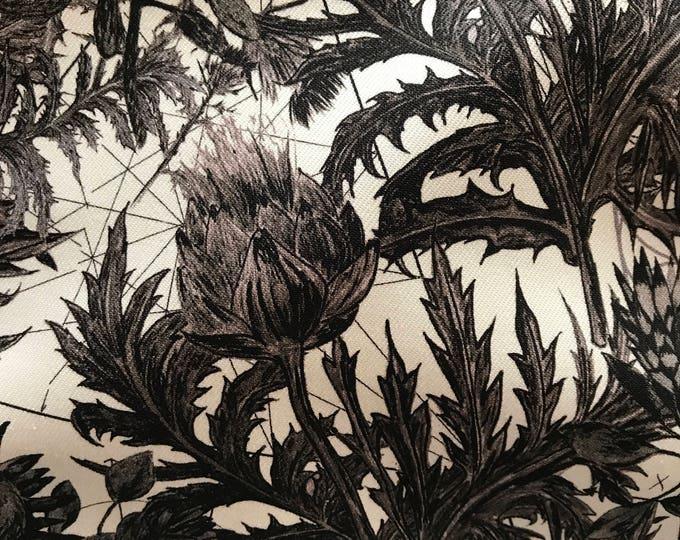 Black & White Floral Cotton/Lycra Blend