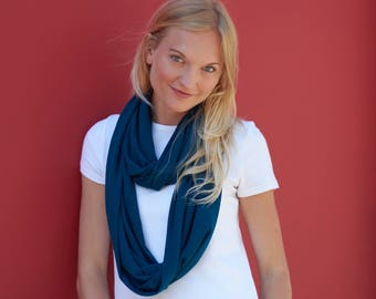 Teal Blue Sweater Infinity Scarf