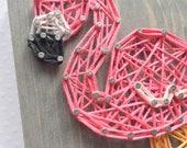 MADE TO ORDER String Art Mini Pink Flamingo Sign