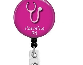 Retractable Badge Reel - Personalized ID Badge - Badge Reels - Id Badge - Custom Nurse Badge - Nurse Belt Clip - Custom Nurse Name Badge