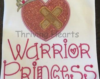 Heart warrior Princess Awareness Shirt
