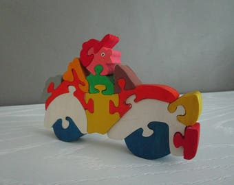 Puzzle car and driver