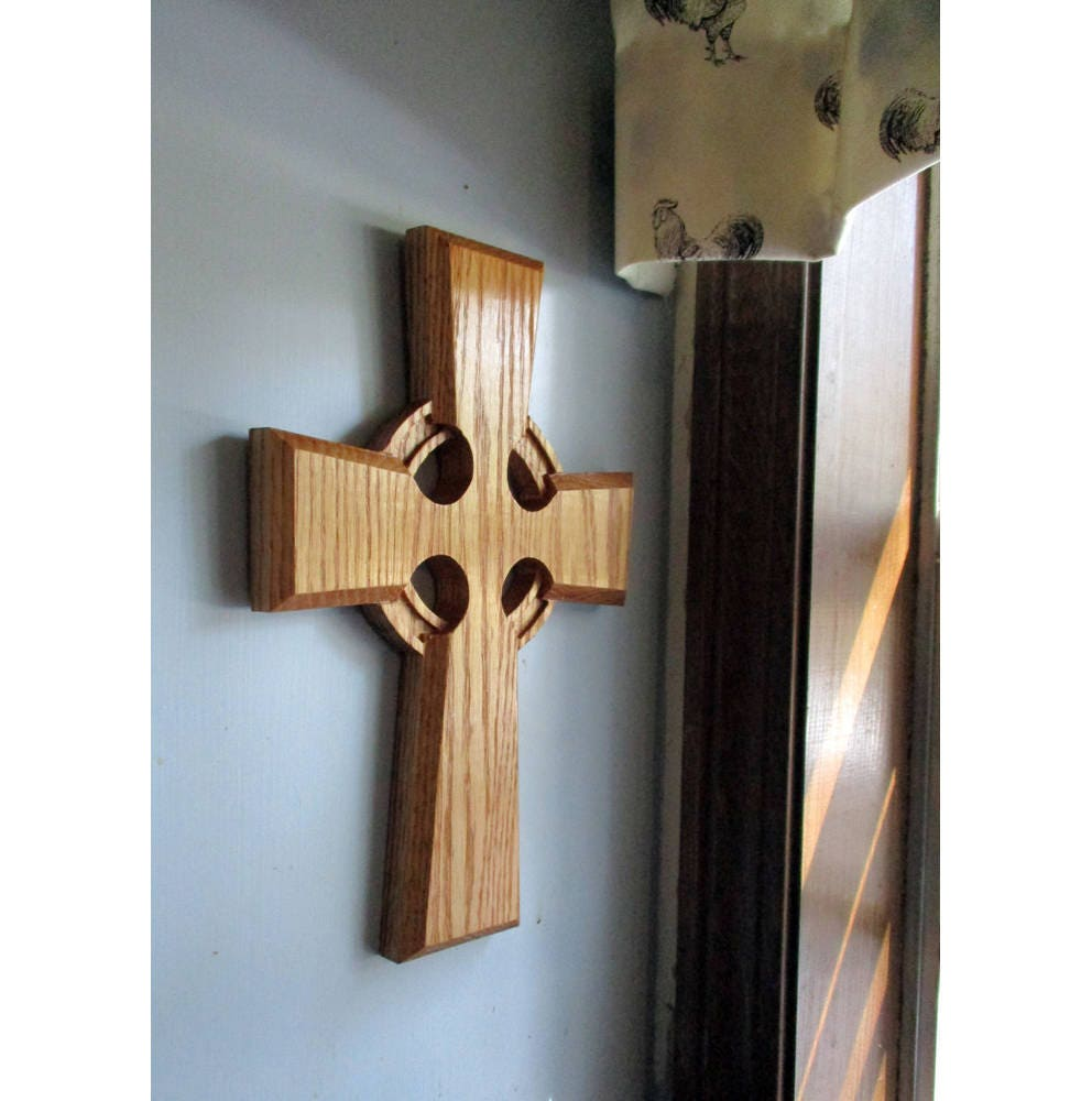 Celtic cross wall hanging irish cross wall decor carved zoom amipublicfo Images