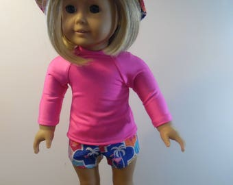 American Girl Shorts, Knit Top and Sun Hat