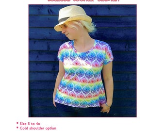 Ladies Donut Dolman top and tunic PDF sewing pattern sizes s-4x