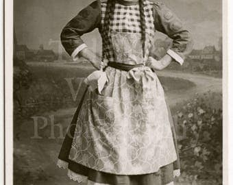 Miss Fanny Fields Edwardian Actress RPPC Postcard - As Gretchen in Aladdin - Philco Series - Unused