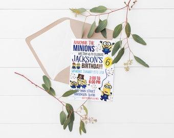 Printable Minions Birthday Invitation | Minions Party | Kids Birthday Invitation | Kids Minions Invitation
