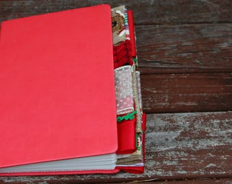 Red Altered Christmas Journal