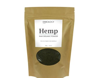 Raw Organic Hemp Protein Powder 10.6 oz - Rich in Vitamin D and Minerals