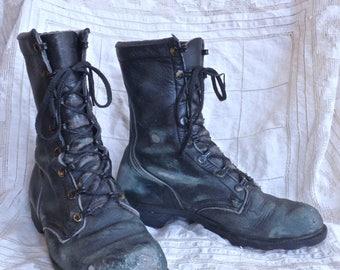 Vintage Distressed Combat Boots Size 5.5 Men's 8 Women's
