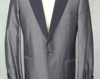 1980s Tuxedo Jacket Sexy Black Large Lapel Size 40R