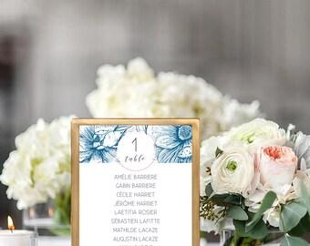 Floral Wedding seating plan - Flowers Wedding seating chart - Flowers Wedding Invitation - Vintage Wedding - Wedding Table - Floral Wedding