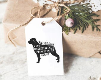 Dog Address Stamp, Custom Address Stamp, Rottweiler Return Address Stamp, Self Ink Stamp, Wedding Stamp, Doglover Housewarming Gift Idea