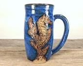Seahorse Mug 16 oz - Under the Sea - Cute Teen Girl Gift - Oceania - Large Mug Cup - Unique Pottery Mugs - Mesiree Ceramics