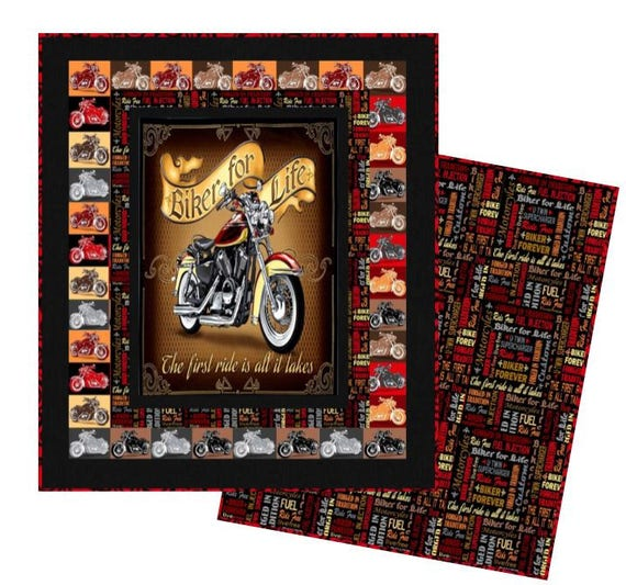 Biker For Life Quilt Childrens Bedding Handmade Quilts Baby