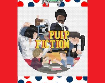 Pulp Fiction Movie Modern Cross Stitch Pattern Download