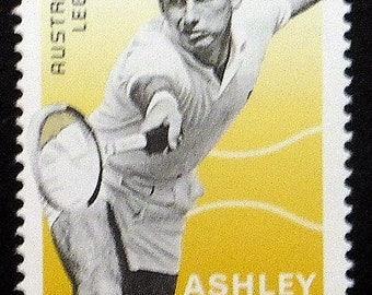 Ashley Cooper, Australian Legends, Tennis -Handmade Framed Postage Stamp Art 21822AM