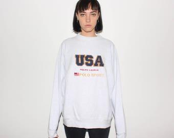 90s Ralph Lauren Polo Sport USA Sweatshirt