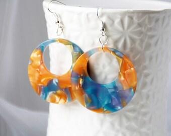 Large earrings, danlge earrings, earrings, earrings, gift for girlfriend, jewelry every day, boho, summer earrings, bohemian jewelry