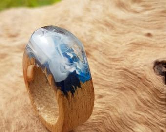 Broken wood ring