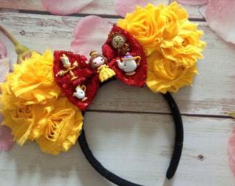 Beauty and the Beast Couture Mouse Headband-Photo prop,Halloween costume,dress up,party headband