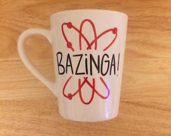 11 oz. Bazinga Mug. Big Bang Theory Mug. Sheldon Cooper Mug.
