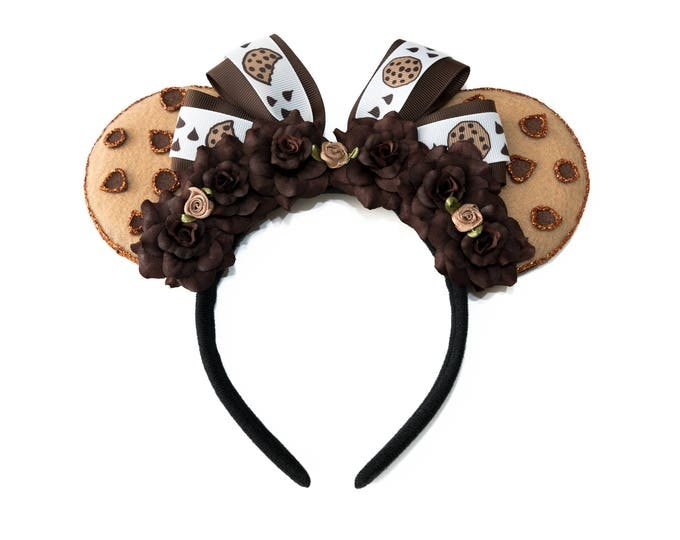 Chocolate Chip Cookie Mouse Ears Headband