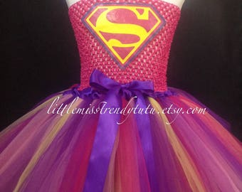 Superman Tutu Dress, Super Girl Tutu Costume, Super Hero Tutu Dress, Super Hero Costume Girls, Girls Super Man Tutu Dress Tutu Dress Costume