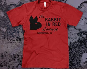 Rabbit In Red Lounge - Michael Myers Halloween Film Unisex T-Shirt in BLACK or RED