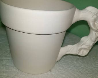 Cup with Pansy Handle