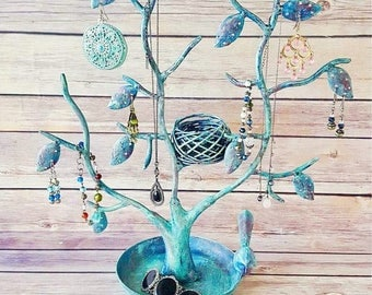 Turquoise Jewelry Tree   Rustic Jewelry Holder   Earring Display   Necklace Holder   Jewelry Display   Earring Holder   Necklace Display