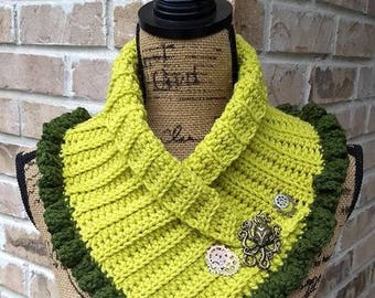 Lime Steampunk Scarf