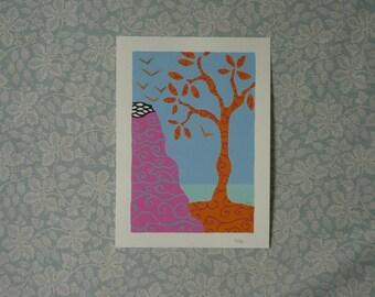 Tree & Cliff