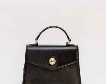 Courreges black leather bag