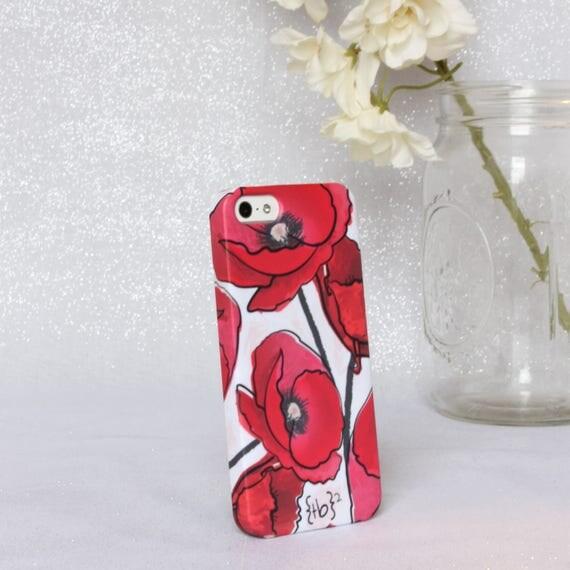 Poppy iPhone 5 Case - Floral iPhone 5 Case - Floral iPhone Case – Red Flower iPhone 5 Case – Red Poppy iPhone Case