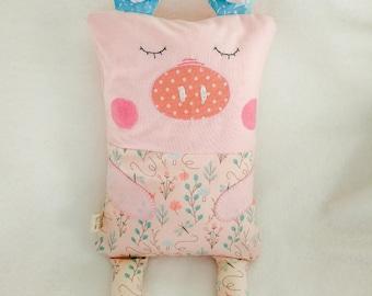 Pig Cuddle Buddy - Baby pillow / cushion - Toddler pillow / cushion - cute animal