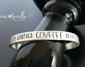 Covfefe Bracelet, Covfefe Tweet Donald Trump, #COVFEFE, Make America COVFEFE Again, Anti-Trump Bracelet, Democrat Jewelry, Liberal Bracelet
