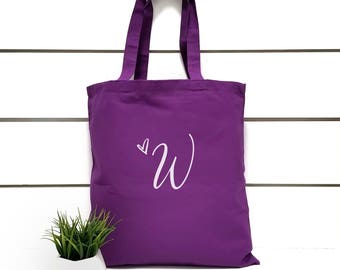 Bridesmaid Tote Bag.Bridal Party Gift.Gift For Bridesmaid.Personalized Bridesmaid Tote.Bridesmaid Beach Bag.Wedding Party Gift.Purple.Blue