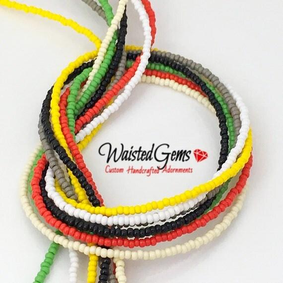 Color Choice Simple Strand Waist Beads, body beads, belly chain, african waist beads, bikini, zmw9991