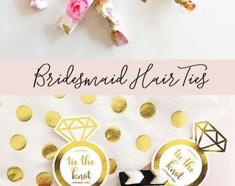 Unique Bridal Shower Favors Bachelorette Hair Ties Bridesmaid Gift Ideas Bridesmaid Hair Ties Bachelorette Party Favors (EB3182KNT)