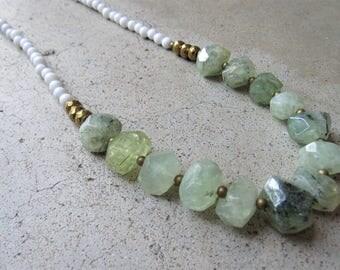 Ramona / Statement necklace 34'' / Gemstones