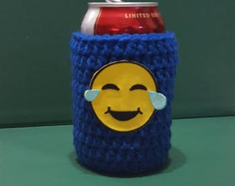 Crochet Can Cozy // Emoji //  Ready To Ship